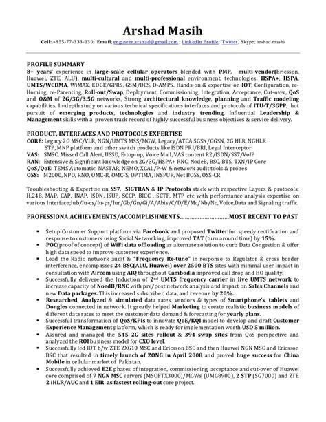Ericsson noc engineer resume jpg 728x942